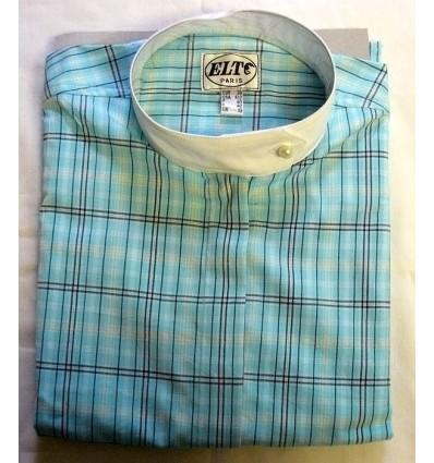 Košile aquamarín kostka